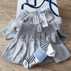 Nwt sweater dress & tights